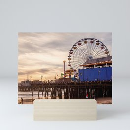 Santa Monica Pier Fun Mini Art Print
