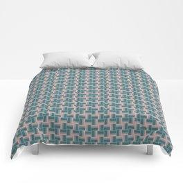 Teal Mauve Pinwheel Pattern Comforters