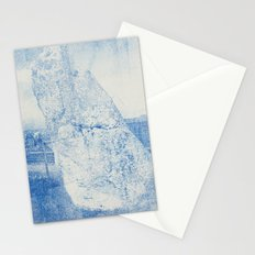 Gum arabic print of rock Stationery Cards