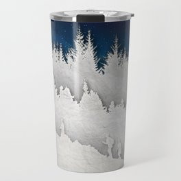 A Snowy Hike Travel Mug