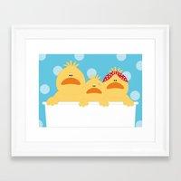 ducks Framed Art Prints featuring Ducks by SANTA