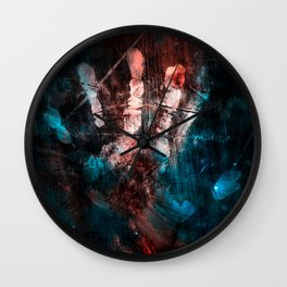 Cosmic Grunge Imprints Wall Clock