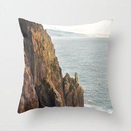 Lower Neahkahnie Mountain Ocean Spires, Oregon Coast Landscape Throw Pillow