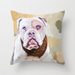 American staffordshire terrier pop art Throw Pillow