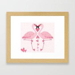 Flamingo Love. Framed Art Print