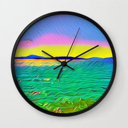 Benicia Pier Wall Clock