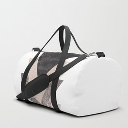 Geometric Shapes. Marble Triangles. Duffle Bag