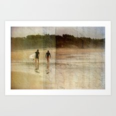 Surfer Love Art Print