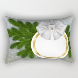 Christmas tag Rectangular Pillow