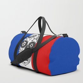Mexican Skull With French Flag Duffle Bag