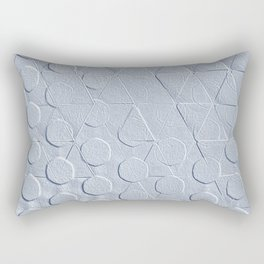 Embossed Geometric Heather Gray Rectangular Pillow