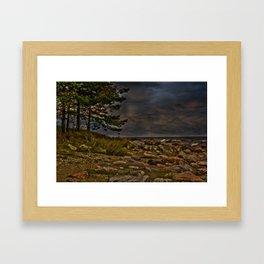 The Baltic Sea at Engure Latvia  Framed Art Print