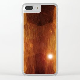 Skyscapes With Light In 3-D v.2 Clear iPhone Case