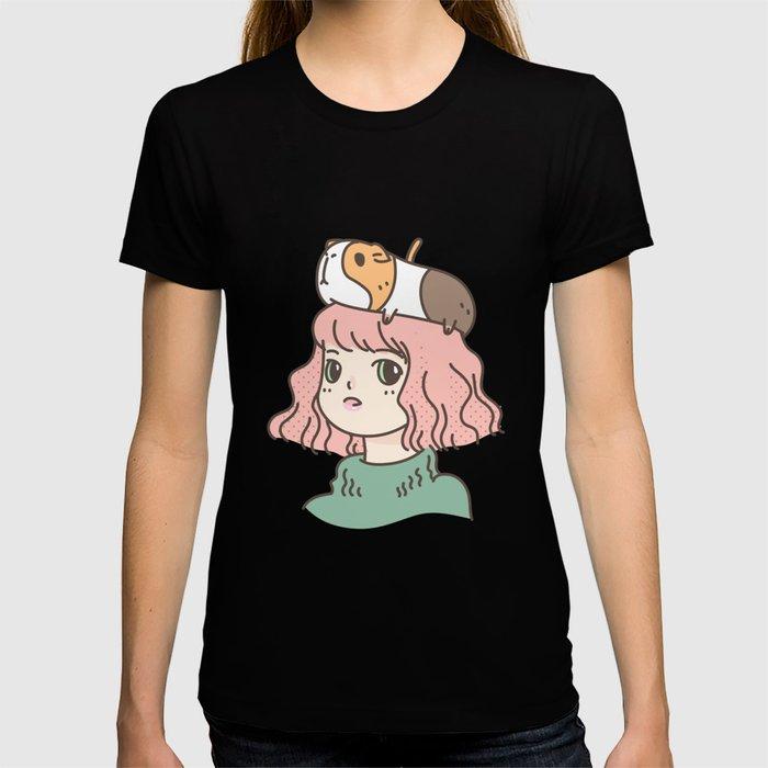 Guinea Pig Lady T-shirt