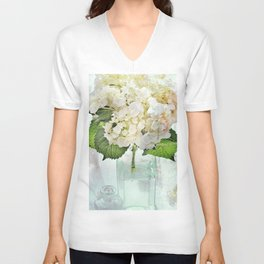 Whitish Unisex V-Neck