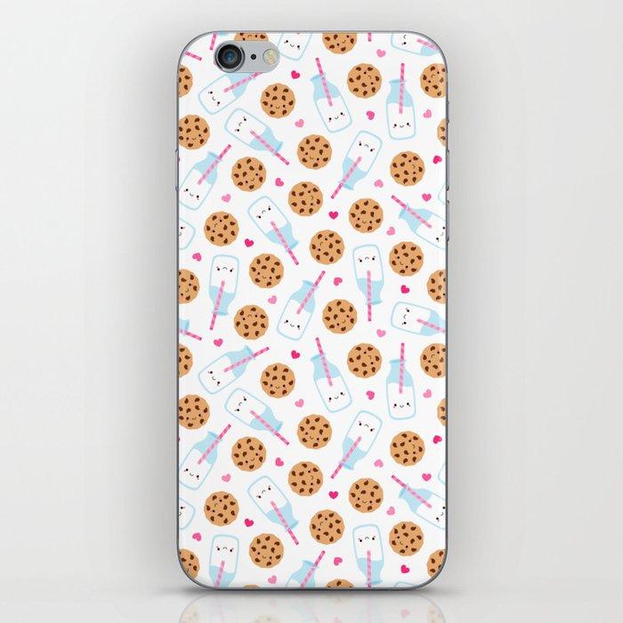 Happy Milk and Cookies Pattern iPhone Skin