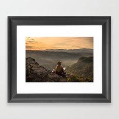 Morning on Starr Mtn Framed Art Print