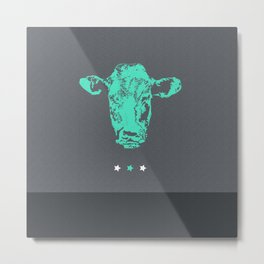 Holy Cow! (Green) Metal Print
