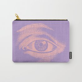 Soft Color Vintage Eye Pattern Carry-All Pouch