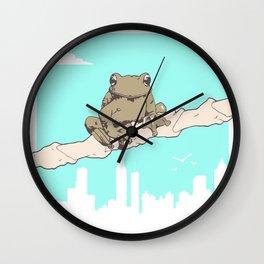 City Frog Wall Clock