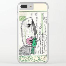 Retro portrait 25 Clear iPhone Case