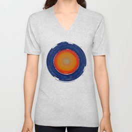 Circular Sunset Unisex V-Neck