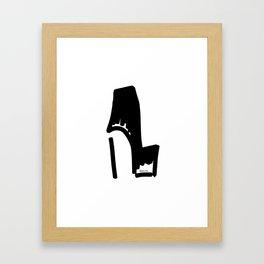 Black Bootie Framed Art Print