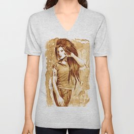 A little Amy in my coffee Unisex V-Neck