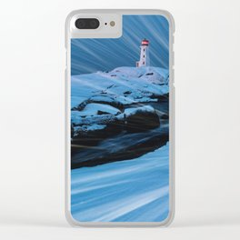 Whipping Winds Clear iPhone Case