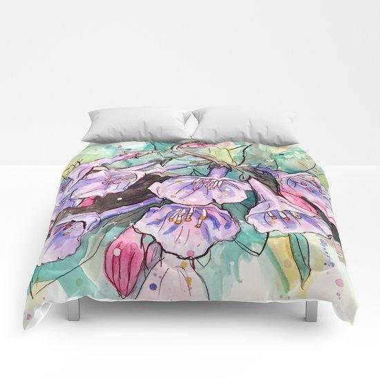virginia bluebells Comforters