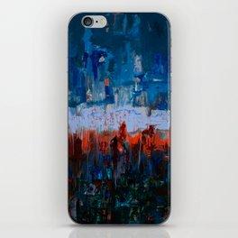 Blue and Orange iPhone Skin