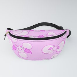 Bubbles and Bats Pink Fanny Pack