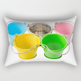 Colorful buckets Rectangular Pillow