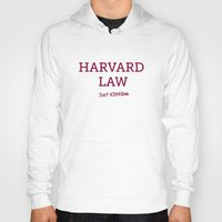 law Hoodies featuring Harvard Law by Trend