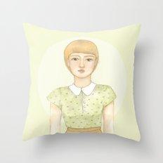Green blouse Throw Pillow