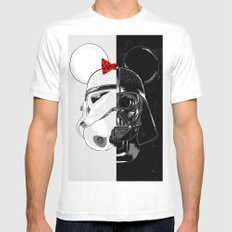 Mini Trooper vs. Vader Mouse MEDIUM Mens Fitted Tee White