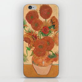 Still Life: Vase with Fourteen Sunflowers by Vincent van Gogh iPhone Skin