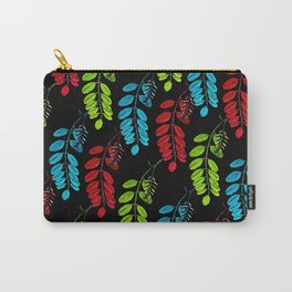 Red, Green and Blue Black Locust Carry-All Pouch