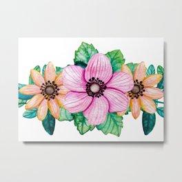 Pretty Crown of Flowers Metal Print