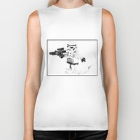 trooper Biker Tanks featuring Trooper by Inks. MD
