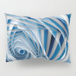 Blue Rose Spiral Pillow Sham