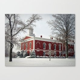 Side View of the Iron County Courthouse Canvas Print