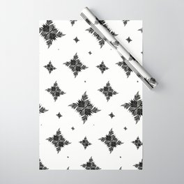 Charcoal Tree Fern Bottoms Up Wrapping Paper