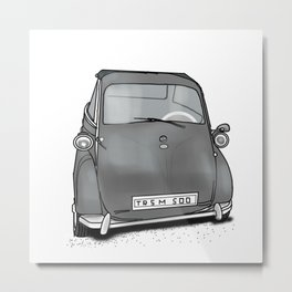 retro car . artwork Metal Print