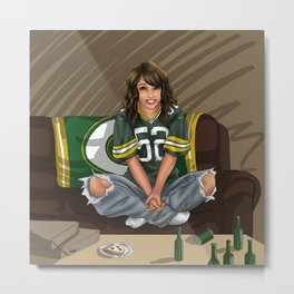 Packers girl Metal Print
