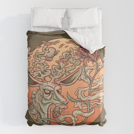 Deer Smoke & Indian Paintbrush Duvet Cover
