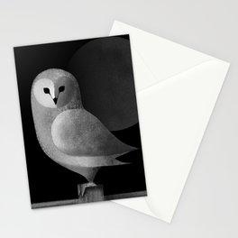 Barn Owl Full Moon Stationery Cards