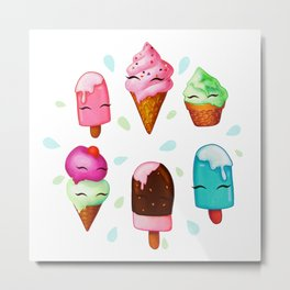 Popsicles and Ice Cream Metal Print