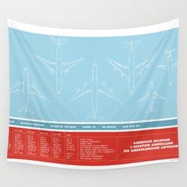 America aviation Wall Tapestry
