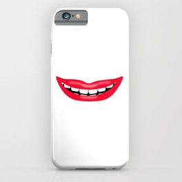 Big Happy Smiling Mouth iPhone Case